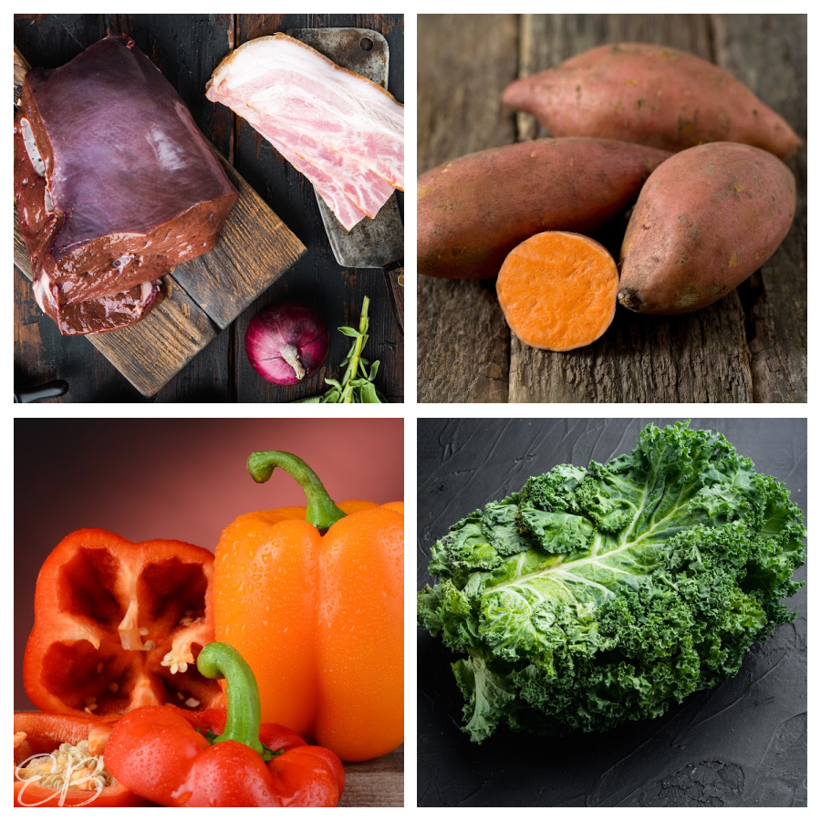 4 FOODS HIGH IN VITAMIN A