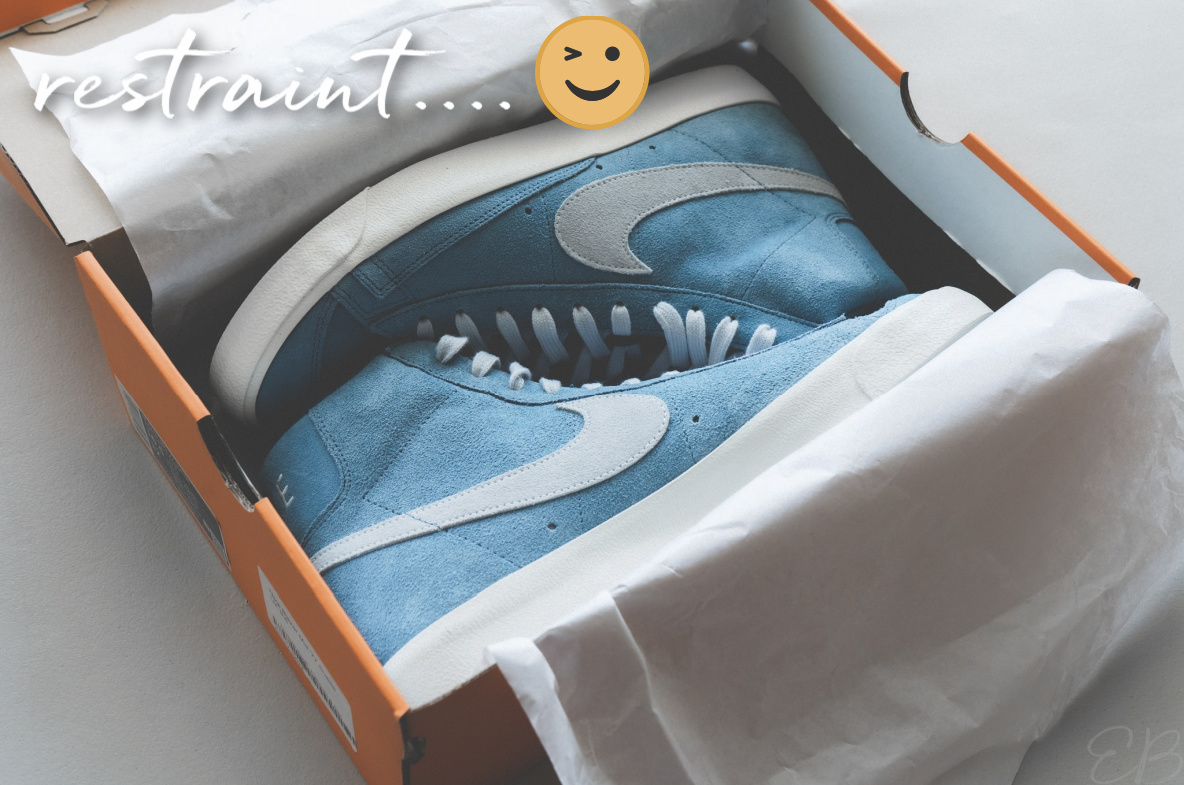 a box of sneakers