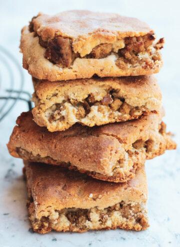 stack of 4 keto paleo sausage biscuits