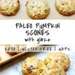 2 photos of Paleo Pumpkin Scones