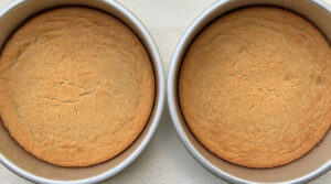 two baked cakes