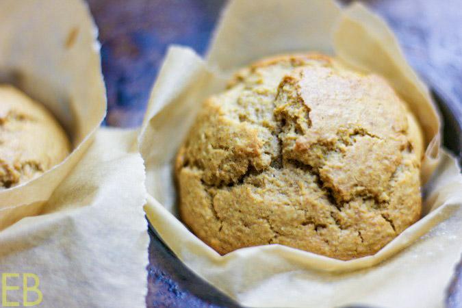 up close image of butternut squash muffin