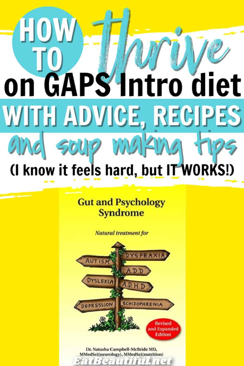 how to thrive on GAPS wording on image with GAPS book